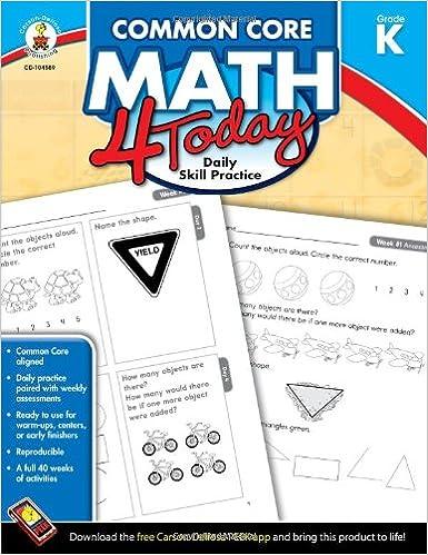 Amazon.com: Common Core Math 4 Today, Grade K: Daily Skill ...