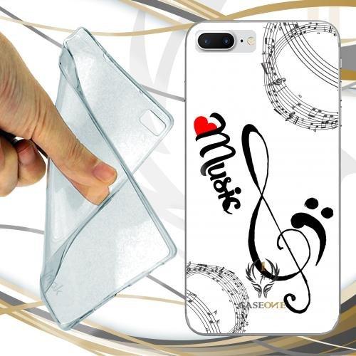CUSTODIA COVER CASE CASEONE MUSIC AND LOVE PER IPHONE 7 PLUS