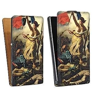 Diseño para Sony Xperia Z L36h DesignTasche Downflip black - Liberty Leading the People / Die Freiheit führt das Volk
