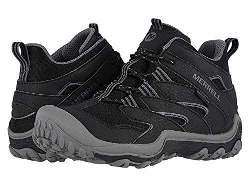 Merrell Kids Boy's Chameleon 7 Access Mid Waterproof (Little Kid/Big Kid) Black 3 M US Little Kid