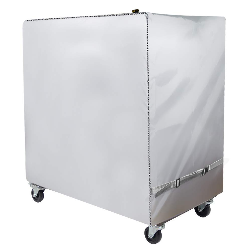 Mr.You Cooler Cart Cover - Universal Fit for Most 80-100 QT,Waterproof Thickened Fabric,Rolling Cooler (Patio Cooler,Beverage Cart, Rolling Ice Chest) Protective Cover (Silver) by Mr.You