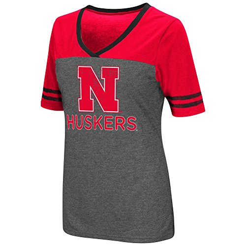 Colosseum Womens NCAA-McTwist Jersey T-Shirt-Nebraska (Nebraska Red Jersey)