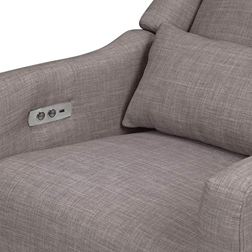 51ErCj0e5sL - Babyletto Kiwi Electronic Power Recliner And Swivel Glider With USB Port In Grey Tweed, Greenguard Gold Certified