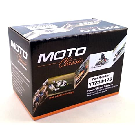 Amazon.com: Moto Classic Sealed AGM PowerSport Baterías ...