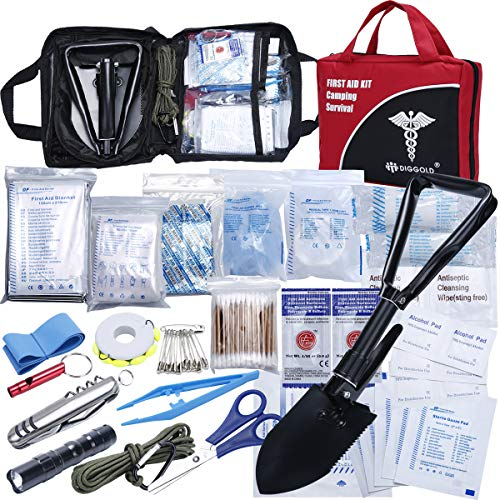 (First Aid Kit Home Comprehensive 25 Items 131 Piece Soft Case Bag for Camping Hiking Car Emergency Survival Outdoor Sports Office by DIGGOLD)
