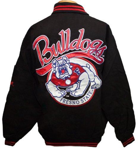 New! Fresno State University Zip- Up Embroidered Jacket Size L
