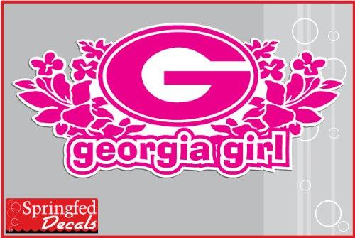 Georgia Bulldogs GEORGIA GIRL w/ HIBISCUS FLOWER #2 8