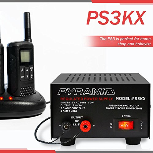Pyramid 3-Amp 12-Volt Power Supply (PS3KX) by Sound Around (Image #5)
