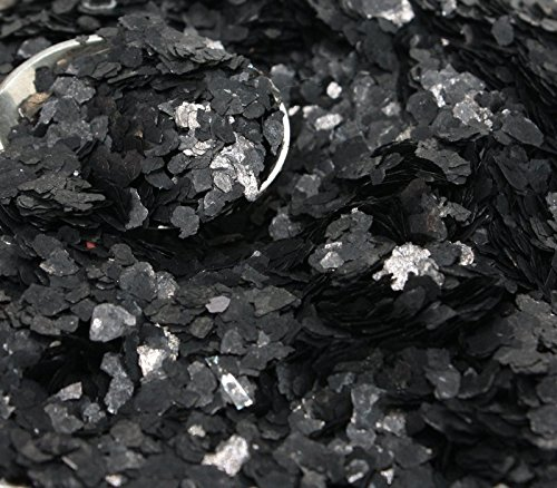 Black Natural Mica Flitter Flakes - One Pound Bulk Pack - #311-4395 by Meyer Imports (Image #2)