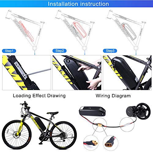Greenergia Battery with USB 48V 17.5Ah Li-ion Electric Bike Battery for E-Bike with Charger by Greenergia (Image #5)
