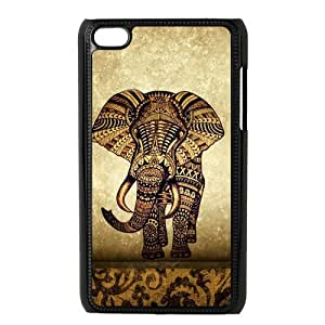 diy zhengiphone 5/5s Generation Back Protective Case - Cute Vintage Newspaper Elephant Aztec Floral Trunk Case Perfect as Christmas gift(5)