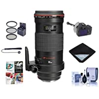 Canon EF 180mm f/3.5L Macro USM AF Lens Kit, USA - Bundle with 72mm Filter Kit, Lens Cap Leash, Lens Cleaning Kit, Lens Wrap, FocusShifter DSLR Follow Focus & Rack Focus, Pro Software Package