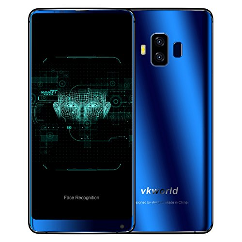 VKworld S8 5.99 inch Full Screen 4GB+64GB Dual SIM Dual Dual Back Cameras, Android 7.0 MTK6750T Octa Core up to 1.5GHz 4G Network Smartphone, Support Face & Fingerprint Identification (Blue)