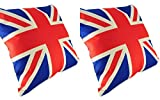 2 Count Union Jack Decor Polyester Throw Pillow Case 18