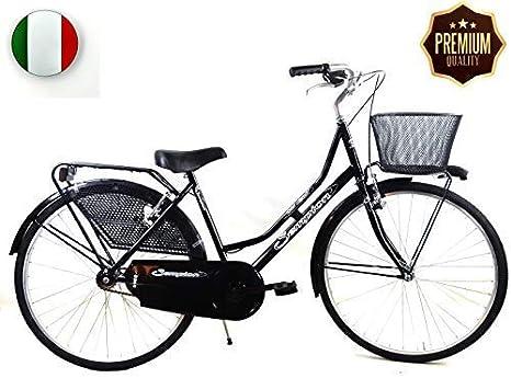 """SPEEDCROSS Súper Promoción – Bicicleta 26″ de Mujer """"Holanda"""" Senza Cambio con Cesta – Color Beige: Amazon.es: Deportes y aire libre"""