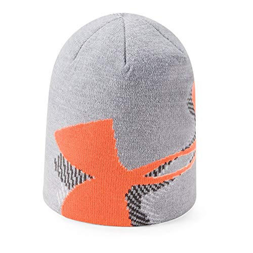 Under Armour Boys Billboard Beanie 3.0, Steel (035)/Magma Orange, One Size