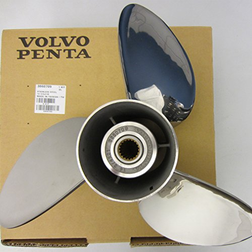 Volvo Penta SX Stern Drive OEM Stainless Steel Prop 14.75 x 21 Propeller 3860709 ()