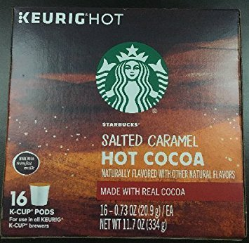 Starbucks Salted Caramel Hot Cocoa Keurig K-Cups, 16 Count