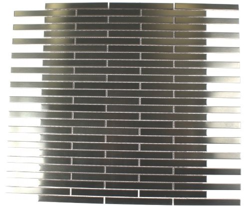 Sample-metal Silver SS 3/8x4 Stick Brick Tiles - Ss Silver Stick
