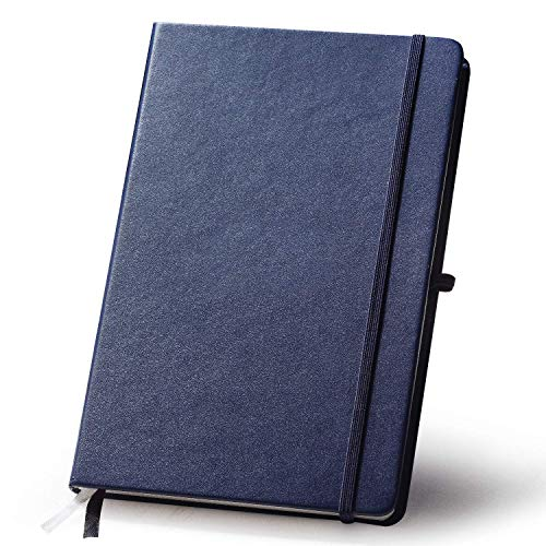 (Planner,2019-2020 Daily-Weekly-Monthly One Year Leather Planner Calendar System Notebook, Best Agenda to Achieve Your Goals, Time Management&Success, Thicken Page (Mazarine Blue) (Blue))