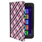 Travel Tablet Portfolio Pink Checkers For ProntoTec Axius/MobiTab 7/RCA DRC 7/8 Apollo/7 Mercury/Pro10/RCT 7-inch