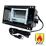 Hyco S31105 Speed Variable Fireplace Blower 110V ~ 120V for GHP Group, Monessen / Majestic (MHSC Brands), Majestic Dutchwest Windsor, CFM US Century Plate Steel Freestanding Wood Stove Fireplace