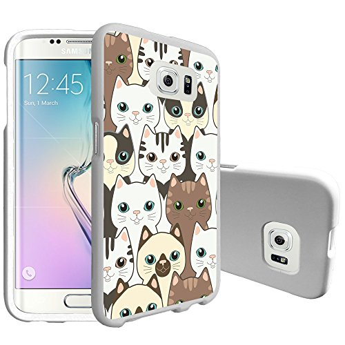 MINITURTLE Case Compatible w/ Premium MINITURTLE Phone Case for Samsung Galaxy S7 [Snap Shell Case] Hard Plastic Slim White Snapon Case Cute Kittens