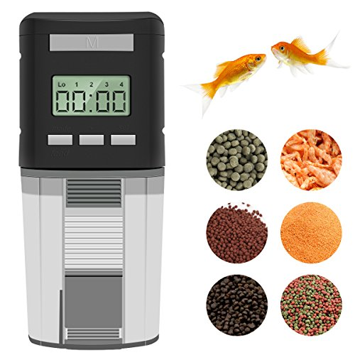 c Fish Feeder Battery Operated Aquarium Tank Auto Pet Fish Food Feeder Timer Dispenser For Small Fish,Tropical Fish,Gold Fish ()