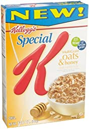 Special K Cereal, Multigrain Oats and Honey, 13.1-Ounce Boxes (Pack of 4)