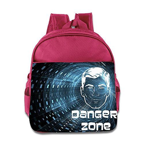 Archer Danger Zone Children School Bags Pink