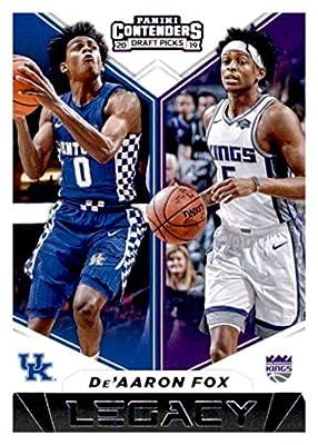 2019-20 Panini Contenders Draft Picks Legacy #21 De'Aaron Fox Kentucky Wildcats/Sacramento Kings Basketball Card