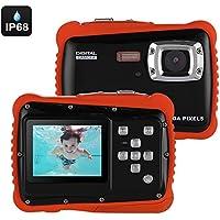 Generic Powpro Kfun PP-J52 Underwater Camera - IP68 Waterproof, HD Video, 5MP Picture, 2-Inch Screen, 32GB SD Card (Black)