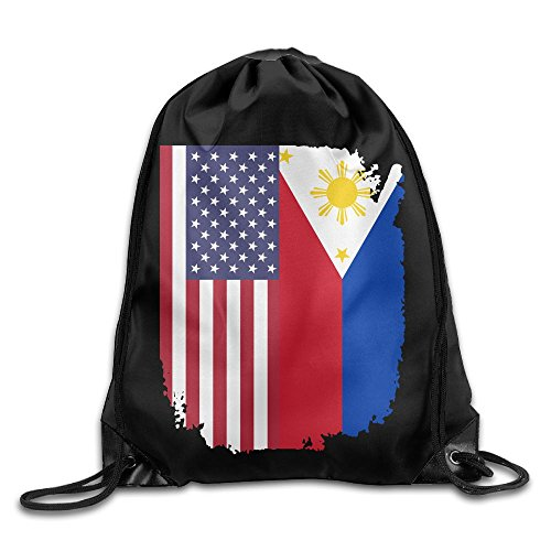 Drawstring Sports Backpack American Philippines Flag Men And Women Home Travel Shopping Rucksack Shoulder Bags from SG0HGO