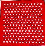 White Star in Red Handkerchief Headwrap Bandana