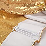 LQIAO Gold Sequin Curtain 96in Sparkly Sequin