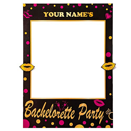 2-in-1 Bachelorette Photo Booth Props Frame Party Supplies- Bride Tribe Squade Wedding Bridal Shower Decorations Selfie Games