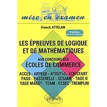 Epreuve de Logique & de Mathematiques Cinquième Edition