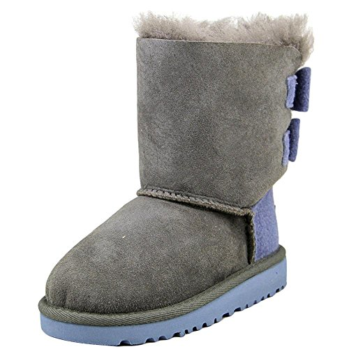 UGG Australia Kids Toddler Bailey Bow Wool Boot Grey Size 9 M US Toddler by UGG