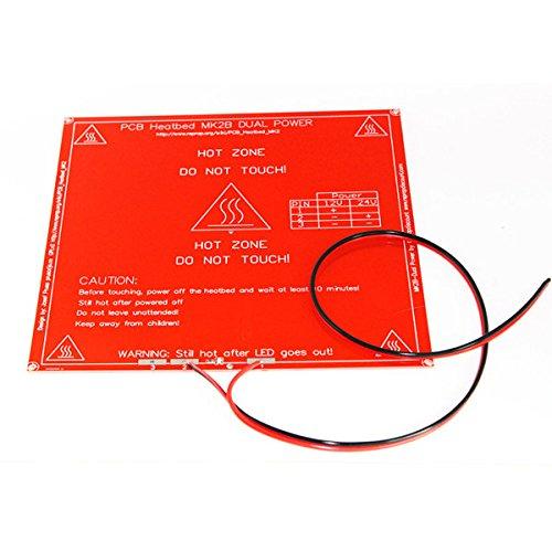 RepRap 3d impresora PCB Heatbed MK2B calor cama línea para Prusa ...