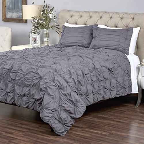 Arden Loft Thistle Terrace Collection Dreamweaver Charcoal King Quilt Set