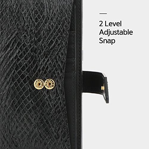 Galaxy Note 8 Case, DesignSkin [WALLET PLUS]: 2 in 1 Set Folio Flip Cover Case With Removable Card Holder Snap Closure 100% handmade Genuine Leather Unique Protective Cash Pocket Slot Storage (Black) by DesignSkin (Image #4)