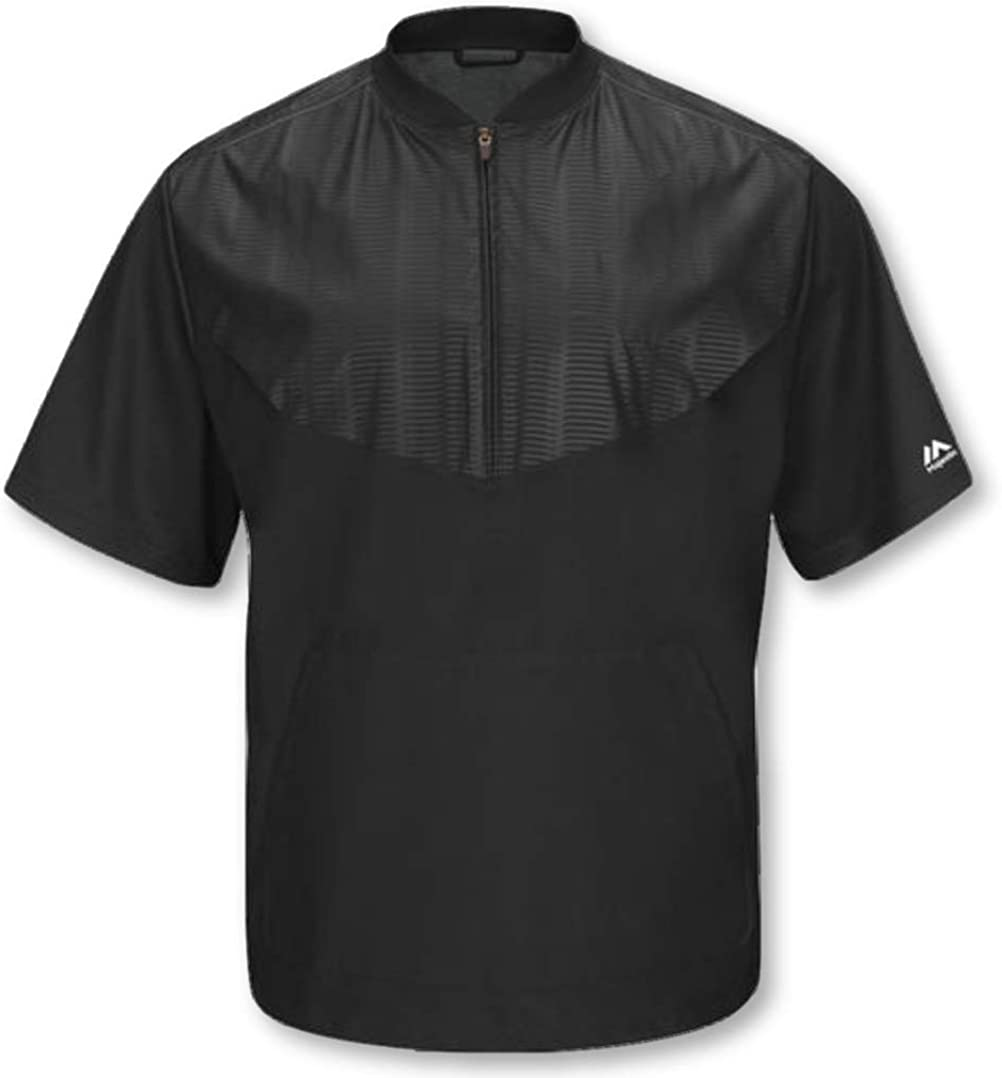 Majestic Mens Cool Base Short Sleeve Training Jacket Gray