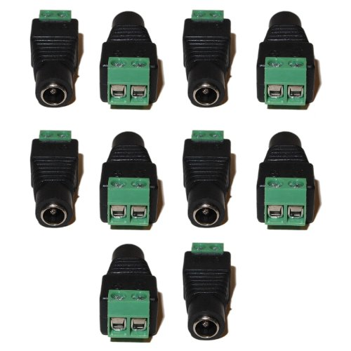 10 pcs Cat5/Cat6 Cable Female 5.5/2.1mm barrel jack connector with screw terminal