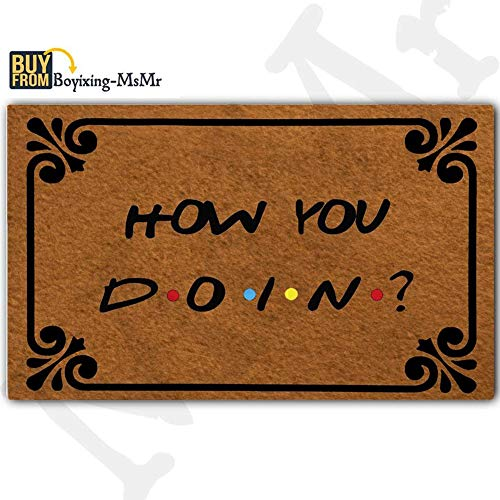 MsMr Doormat Entrance Mat - Funny Doormat - How You Doin...