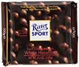 Ritter Sport, Dark Chocolate with Whole Hazelnuts, 3.5-Ounce Bars...