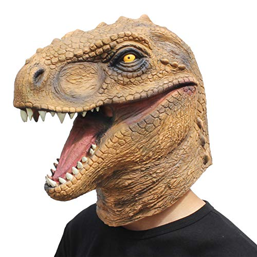 CreepyParty Novelty Halloween Costume Party Animal Jurassic Head Mask Dinosaur]()