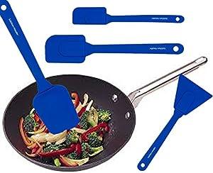 Kitchen Meister Silicone Utensils Set Includes - Spoon Spatula, Scraper, Spatula, and Small Spatula