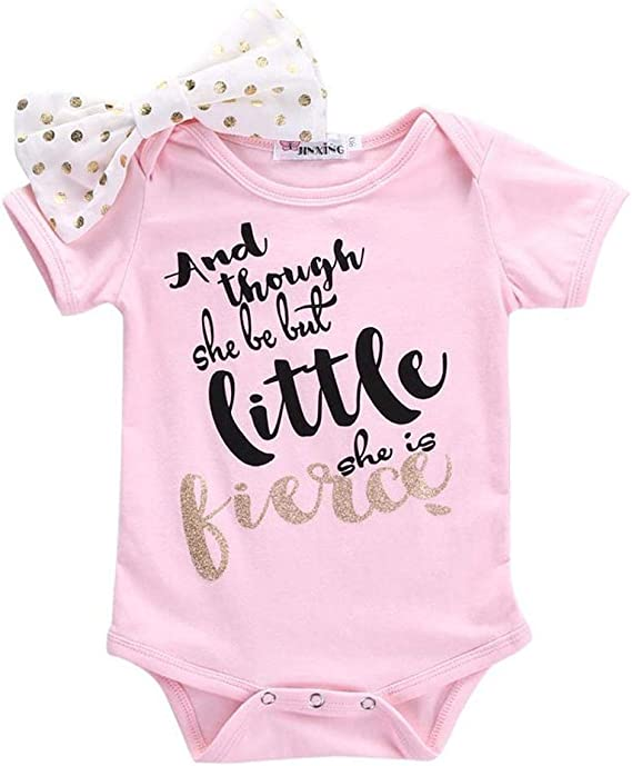 Toddler Newborn Baby Kids Girls Short Sleeve Romper T-shirt Tops Outfit Clothes