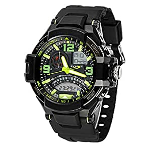 Amjimshop Multi Function Waterproof Military Digital LED Quartz Sports Wrist Watch (Green)