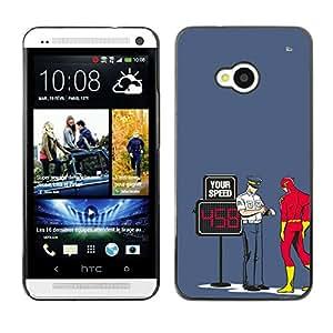 LECELL--Funda protectora / Cubierta / Piel For HTC One M7 -- Divertido Perno Superhero flash --